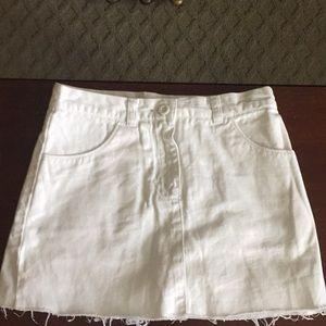 Girls white jean skirt